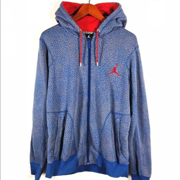 0e92b1609b9558 Jordan Other - Nike Jordan Elephant Print True Blues Hoodie